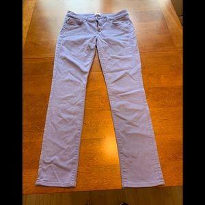 Lavender colored skinny jeans